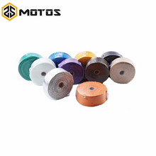ZS MOTOS 1.5 mm*50 mm*15 m Fiberglass Exhaust Protection Pipe Heat Header Insulation Tape Turbo Wrap