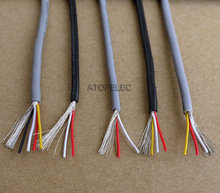 28AWG 2547 UL2547 PVC 2/3/4 Cores Shielded Signal Wire Headphone Cable Cord