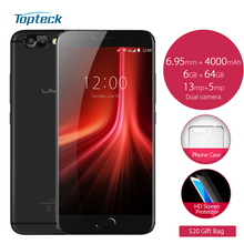 "UMIDIGI Z1 Pro 4G Android 7.0 MTK6757 Octa Core 5.5"" 1920*1080 FHD Smartphone 6GB+64GB 13MP 4000mAh OTG Fingerprint Mobile Phone(China)"