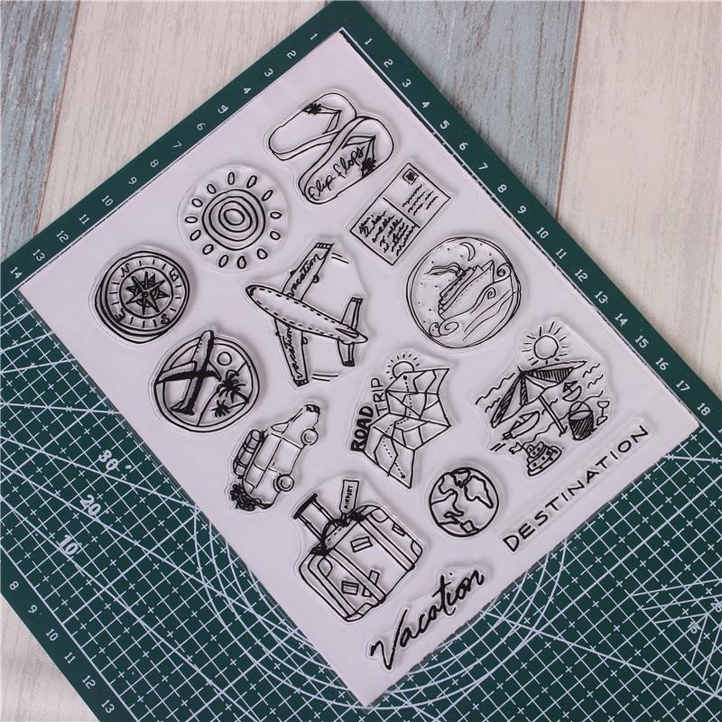 Fecha del patr/ón Sello de Silicona Sello Sellos Transparentes para /álbumes de Recortes Crafts Sello Tarjeta de la Foto del /álbum Decoraci/ón