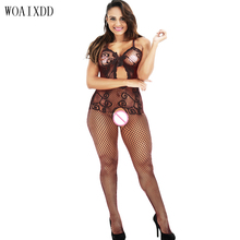 Buy Hot women Sexy Bodystockings Sex toys underwear sleepwear intimates Kimono Sex products crotchless Teddies black Sex nightwear