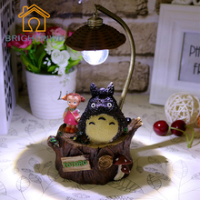 Totoro Resin Night Lights Creative Home Furnishing Decoration Craft Ornaments Nice Gift For Girlfriend Student Kids