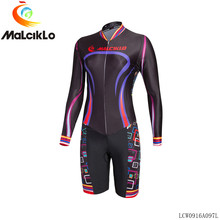 MALCIKLO custom women maillot cycling jersey long sleeve Geometric patterns triathlon skinsuit ropa ciclismo sjersey Men's/ wome