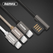 Remax Emperor double side USB 90 degree data Cable fast 8pin USB Cable Charging 2.1A Sync Charger Cable for iphone 5 6 7 plus(China)