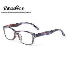 New Fashion Men and Women Color Reading Glasses Spring Hinge Plastic Eyeglasse With Flower Design Presbyopic Glasses