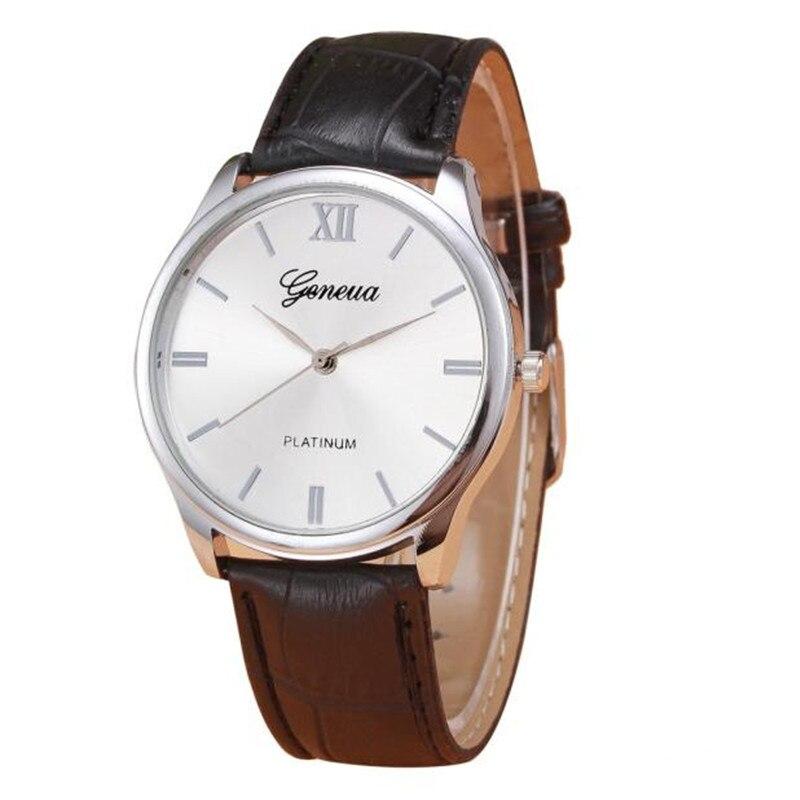 New Arrive Luxury Woman Mens watch Retro Design PU Leather Band Analog Alloy Quartz Wrist Watch Relogio Masculino 2017 <br><br>Aliexpress