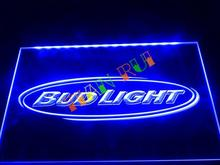 LA001- Bud Light Beer Bar Pub Club NR LED Neon Light Sign(China)