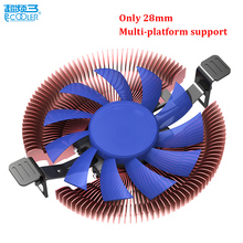 Pccooler E86 ultra-thin 28mm for HTPC mini case all-in-one pc for AMD Intel 775 1150 1151 1155 CPU cooler fan radiator silent