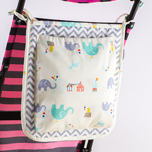 Baby Stroller Storage Bag Square Hanging 31*31cm Cartoon Cotton Multifunction Baby Bed Pouch organizer Diaper Bag GI893348(China)