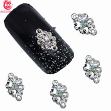 10pcs 3d nail jewelry decoration nails art glitter rhinestone for manicure Color gem design nail accessories tools #171(China)