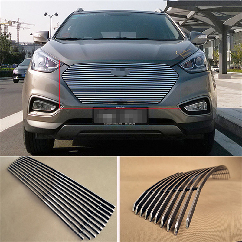 Aluminium Front Center Racing Grills Billet Grille Cover For Hyundai IX35 2012-2013<br><br>Aliexpress
