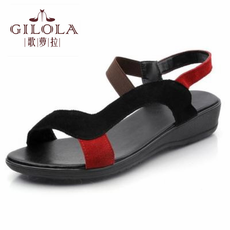 2017 new flat genuine leather and PU womens sandals flip flops women sandals ladies spring summer shoes woman best #Y0561001F<br><br>Aliexpress