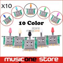 Wholesale 10pcs Colorful 3 Way Selector Electric Guitar Pickup Switches Guitar Toggle Lever Switches for Guitar