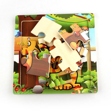 Niosung New Wooden Cute Cat Puzzle Educational Developmental Baby Kids Training Toy Baby Kids Game Toys(China)