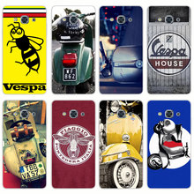 H345 Vespa Scooter Transparent PC Hard Case Cover For Samsung Galaxy J 3 5 7 A 3 5 7 2015 2016 GRAND 2 PRIME