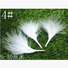 Pure white 4# natural wild chicken wing feather 5-10cm 200pcs/pack Mask jewellery/clothing/shoes/hat accessories Free shipping(China)