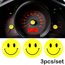 3PCS 2X2CM car styling smile for VW BMW opel seat alfa Renault Peugeot ford focus toyota for motorcycle bicycle sticker