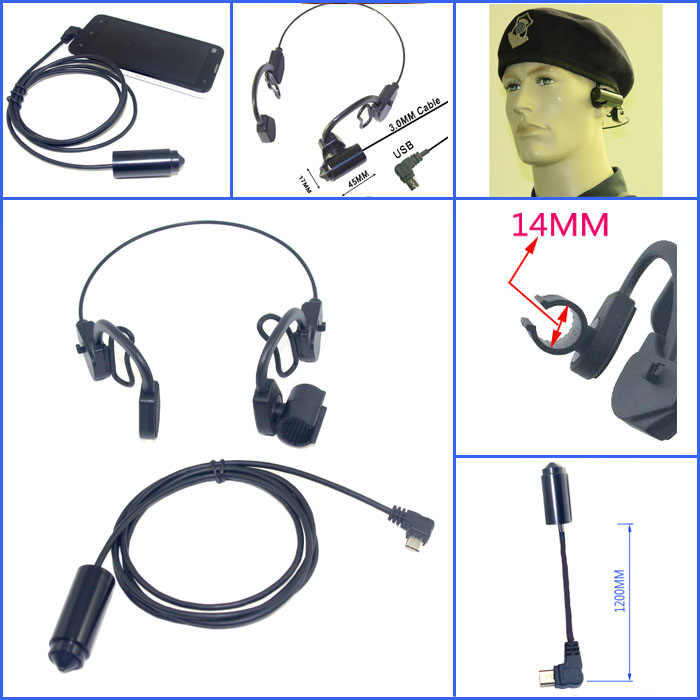 HD 2.0mp Android OTG device cmos mini micro hd usb camera with head holder<br>
