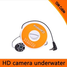 Free Shipping 15Meters Depth Mini Underwater Camera with 8pcs of White LED for Fish Finder & Diving Camera(China)