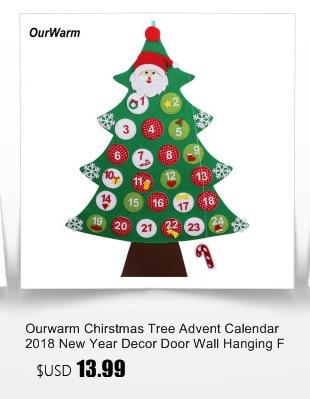 Ourwarm 18 DIY Felt Christmas Tree Pendant Drop Ornaments New Year Gift for Children Kids Door Wall Hanging Xmas Decoration 5