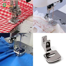 Rolled Hem Foot Silver Sewing Machine Presser Feet Sewing Machine Snap Feet On Sewing Tools Accessory(China)