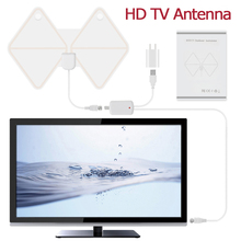 Free shipping HD TV Antenna Indoor Digital TV Antenna with 50 Miles Amplifier Home HDTV Signal Booster Dvb-T/T2 Support 1080p(China)