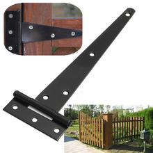 4''/6''/8''/10''/12'' Hardware Heavy Wooden T Hinge Grilled Black Iron Wooden Hinged Light Gates Doors Hinge(China)