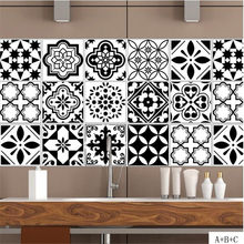 IDFIAF Black and white distinctive individual creative tiles stick to the Nordic style wall to paint the living room bedroom(China)