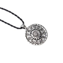 Vintage Classic Compass Necklace 12 Zodiac Compass Constellation Pendants Necklaces for Men Gift Jewelry(China)