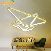 Led Crystal Chandelier Lighting Lustre Hanging Lamp Remote Control Fixture Ceiling Chandelier Living Room Bedroom Restaurant(China)