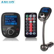 ANLUD Wireless Car FM Modulator Car MP3 Player Bluetooth FM Transmitter with Remote Control HandsFree LCD Screen USB Charger(China)