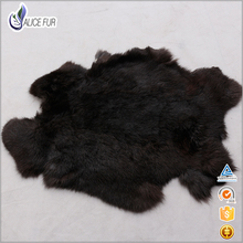 High quality tanned real fur rabbit skin natural rabbit fur pelts wholesale price(China)