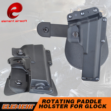 Element Tactical Airsoft Rotating Paddle Right Hand Concealment 360 Degree Rotation Holster For Glock 17 Glock 18C EX361(China)
