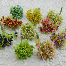 10pcs Artificial Bud Stamen Berry Bacca Flower For Wedding Decoration DIY Scrapbooking Decorative Artificial flowers