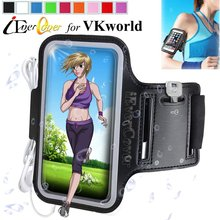 Sport Running Arm Band Cover Case for VKworld S3 , G1 Giant , Discovery S1 , VK560 VK700 Phone Waterproof PU Leather Pouch Bag