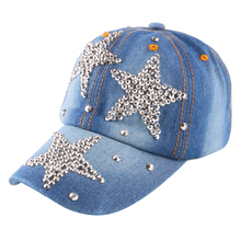 new design brand rhinestone star hip hop snapback for children child 4-12 year boy girl summer outdoor baby baseball cap gorras(China)