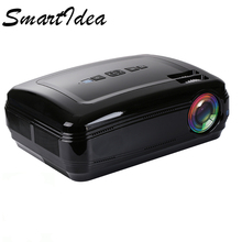 Smartldea Full HD LED 3D home cinema projector 1280*800 android 6.0 wifi bluetooth smart video game 3D proyector LCD TV Beamer(China)