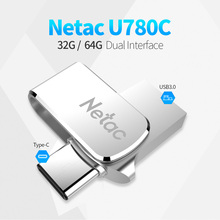 Netac U780C 32G 64G USB3.0 Type-C Dual Interface For Android OTG Memory Storage High Speed Memory Stick USB Flash Drives(China)
