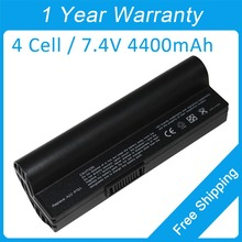 New 4400mah laptop battery for asus Eee PC 700 701 2G 4G 8G XP A22-P700 P22-900 EEEPC46 90-OA001B1100