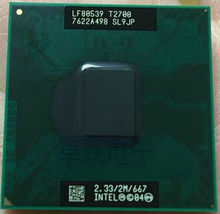 Free shipping Core Duo Mobile InteI t2700 Dual Core 2.33GHz 2M 667MHz BGA479 CPU Processor works on chipset 945(China)