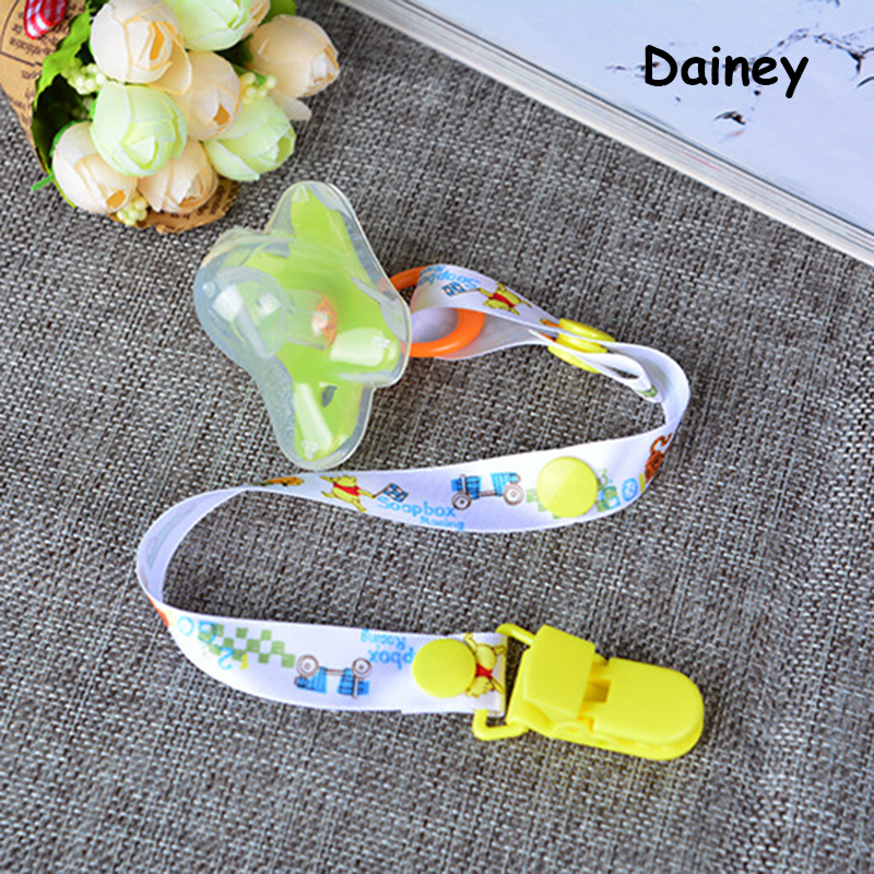 2016 Baby Pacifier Leash Clip Chain Ribbon Dummy Holder Chupetas Soother Pacifiers Clips Strap Nipple Holder Infant Feeding