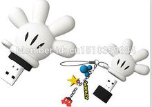Lovely mini cartoon mickey palm USB 2.0 usb flash drive Memory Stick Drive U Disk Thumb/Car/Pen Gift 2GB-32GB Real capacity S26(China)