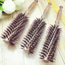 2017 New Hot Selling Pure natural Comb Wig Brush wild 100% boar bristle Wood plastic Excellent hair Styling Tools(China)