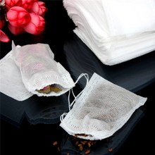 100Pcs/lot 6*8cm Corn Fiber Tea Bags Biodegraded Tea Filters Infusers Quadrangle Pyramid Heat Sealing Filter Bags Tea Tools