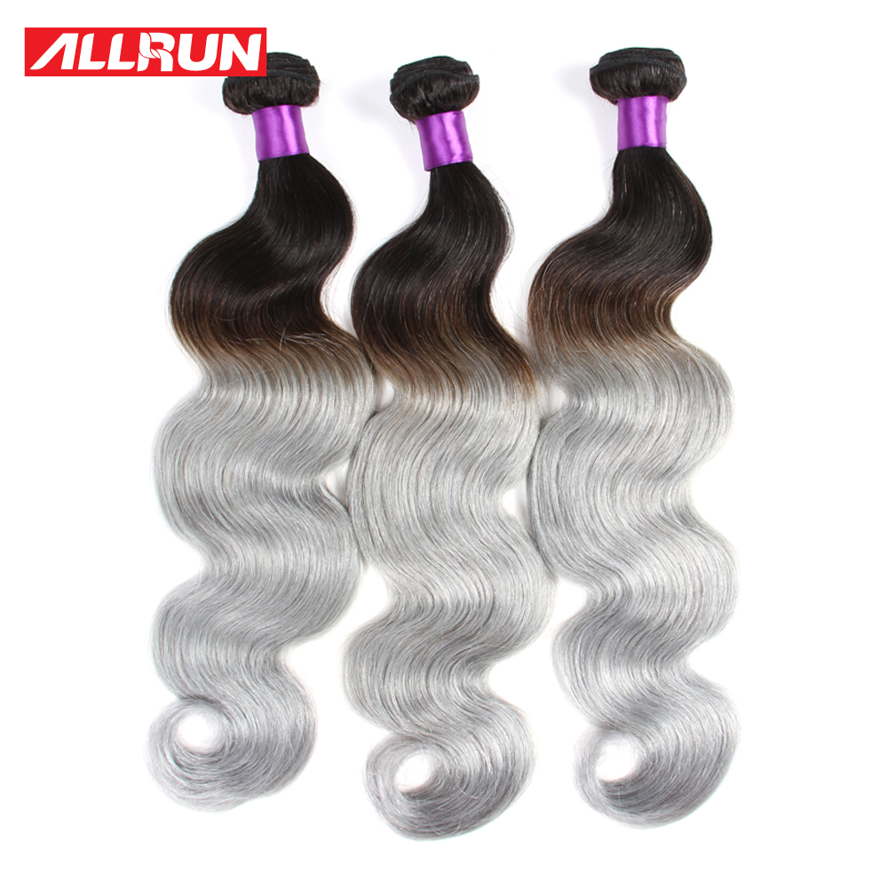 3Pcs Grey Brazilian Human Hair Weave Ombre Brazilian Hair Body Wave Grey Hair Weave Platinum Silver Gray Ombre Hair Extensions<br><br>Aliexpress