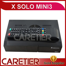 5pc X Solo mini 3 Twin Tuner Satellite Receiver DVB-S2 DVB-C /T2 Combo Enigma2 Linux System with CA Slot support Hbbtv,YouTube