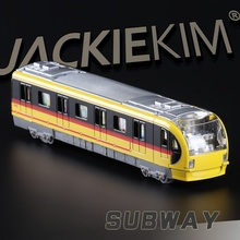 High Simulation Exquisite Collection Toys: Diyaduo Car Styling Subway Model 1:38 Alloy Train Model Fast&Fruious(China)