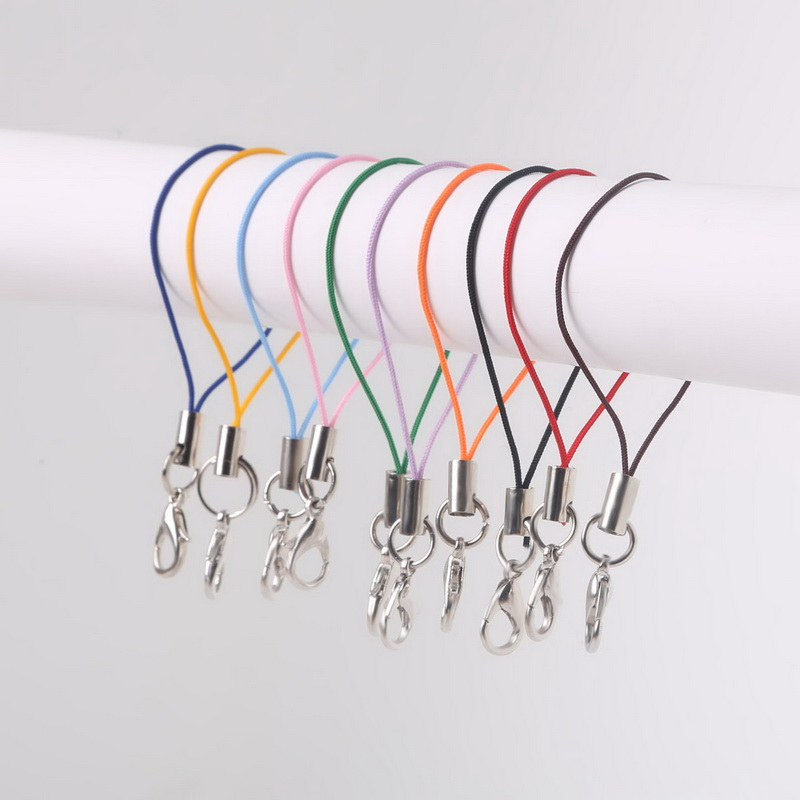 High Quanlity Random Mix Colors Pick Color 100pcs Cell Phone Lanyard Strap Cords Mobile Lobster Clasp Jewelry Findings cords(China)