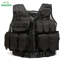 GReen viper hot sale outdoor molle tactical assault vest with belt fishing hunting vest with holster police vest military vest(China)