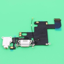"YuXi Charging Flex Cable for iPhone 6 4.7"" Dark Light Gray White Replacement USB Port Dock Connector Socket(China)"